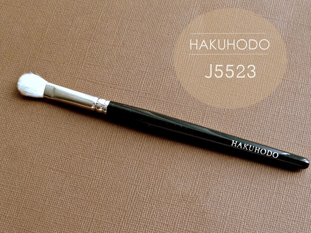 Hakuhodo J5523 Round & Flat Eye Shadow Brush