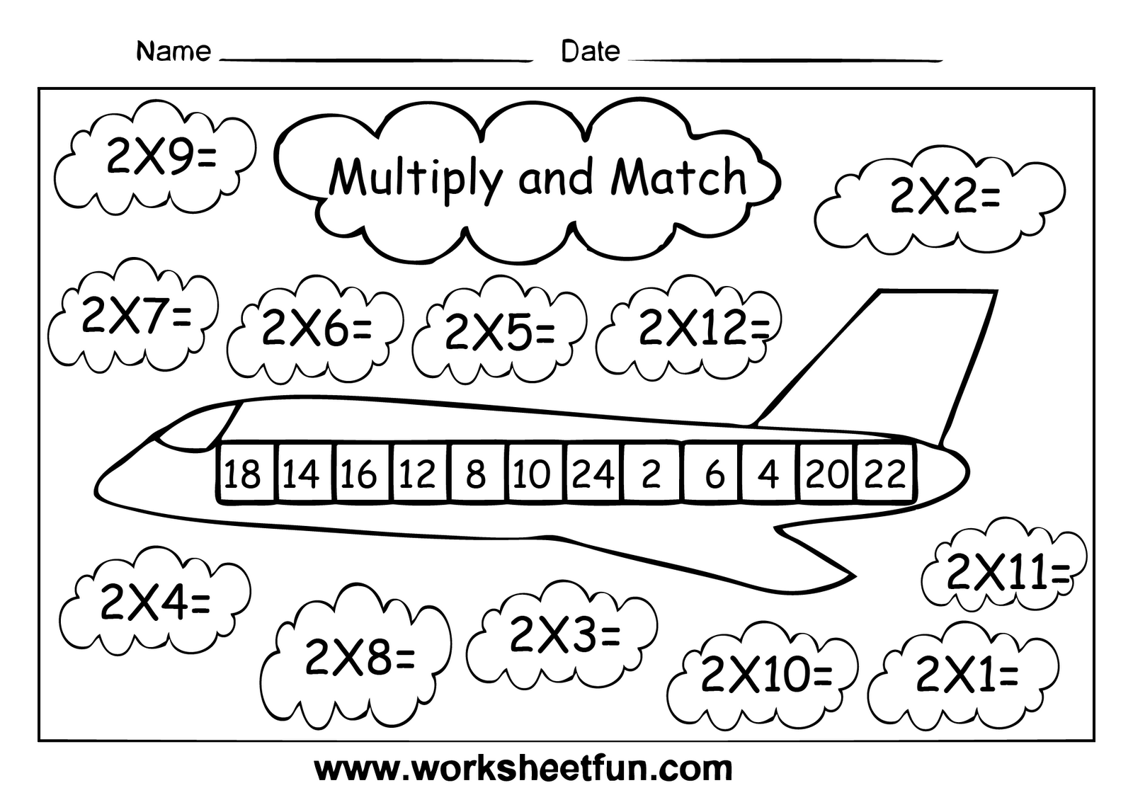 Displaying 16> Images For - Multiplication Facts Worksheets 2s...