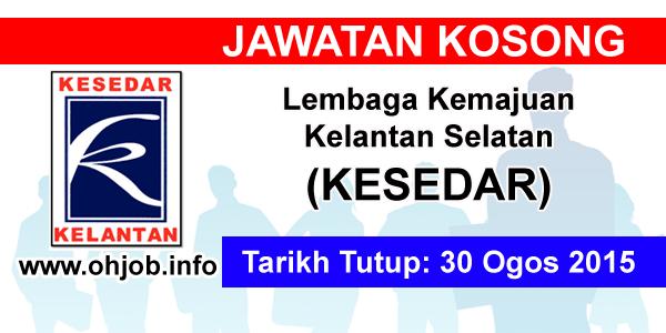 Jawatan Kerja Kosong Lembaga Kemajuan Kelantan Selatan (KESEDAR) logo www.ohjob.info ogos 2015