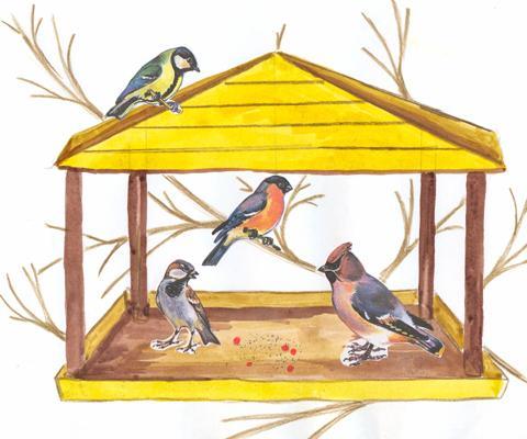 сочинение о том как зимой помогают птицам