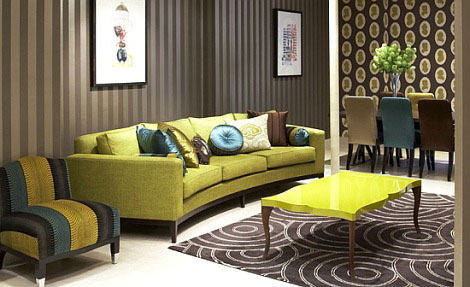 Eye for design olive green interiors for Olive green home decor