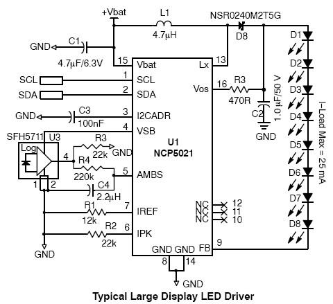 high voltage white led driver circuit diagram, Wiring circuit