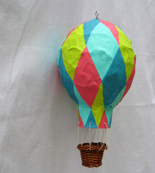 papier m ch hot air balloons by bekkapalmer of minted