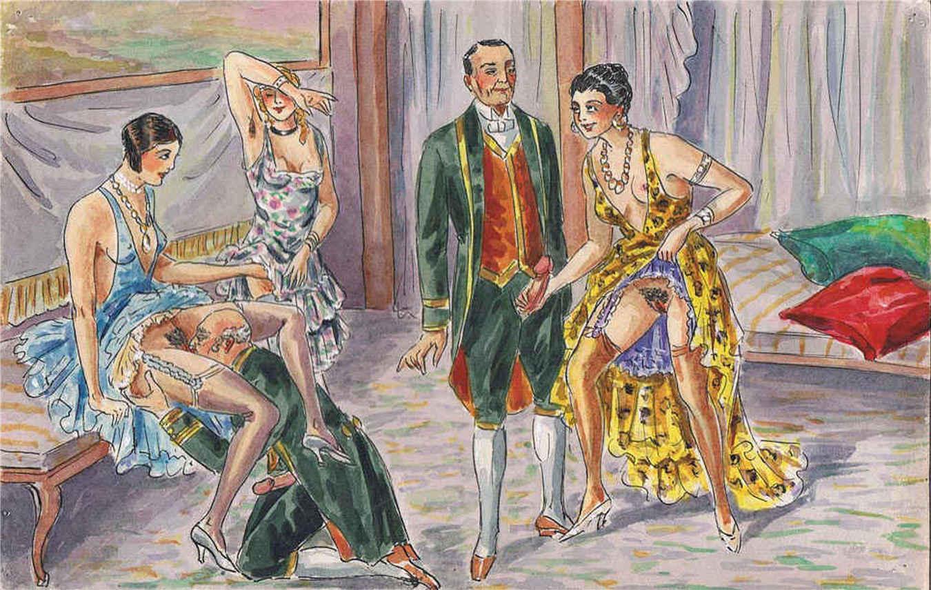 Эротические рисунки графика, Эротические рисунки девушек и женщин - голые картинки 2 фотография