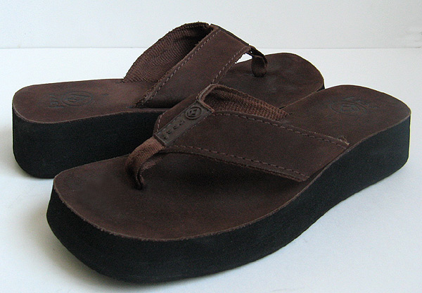 Reef Butter Brown Leather Thong Flip Flop Sandals Womens