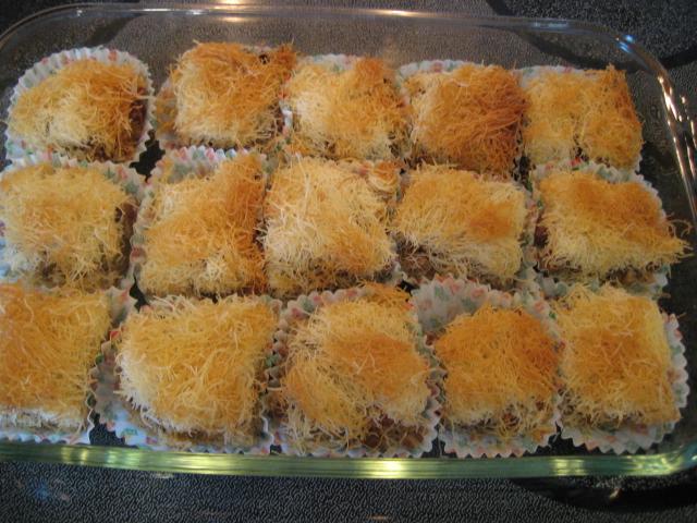 Cream filling for kadaif for Armenian cuisine cookbook