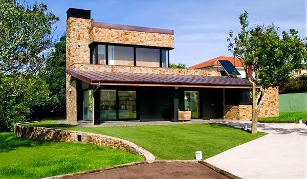 Fachadas de piedra fachadas de piedra asturias for Empresas constructoras de casas