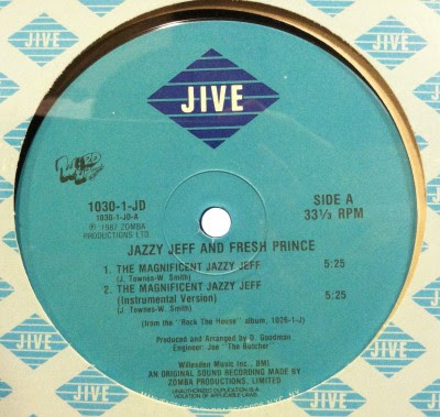DJ Jazzy Jeff & The Fresh Prince – The Magnificent Jazzy Jeff (1987) (320 kbps) (VLS)