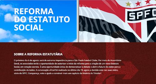 VOTE! Dia 6 Reforma do Estatuto