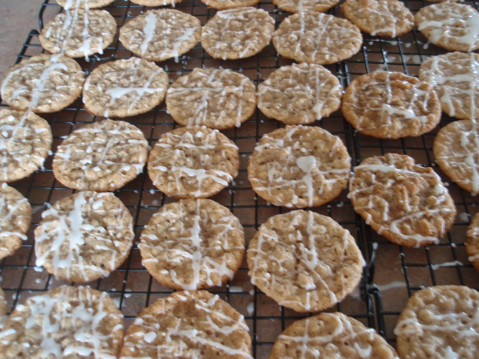 Iced Oatmeal Cookies - My Kitchen Addictions