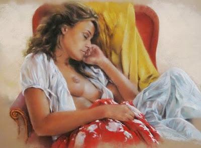 Retrato Al Pastel de Mujeres