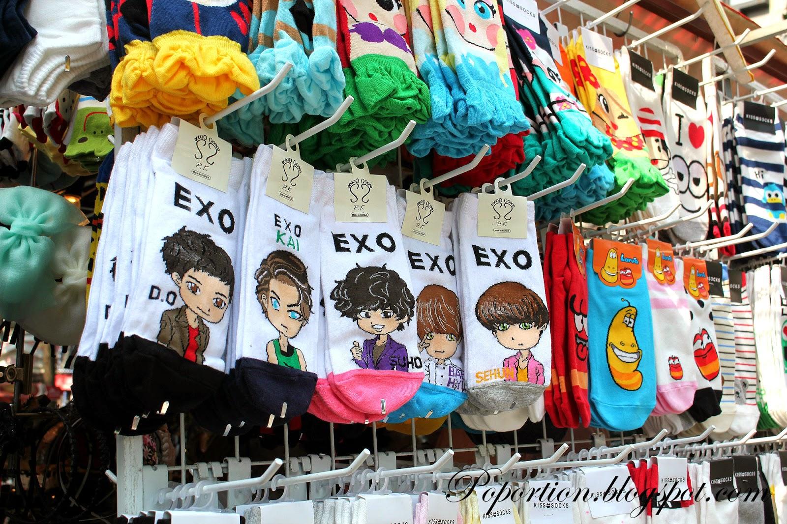 ewha womans university shopping street exo socks