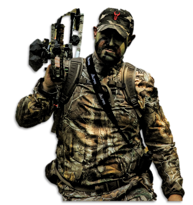 hunter in camo and gear - biomapping