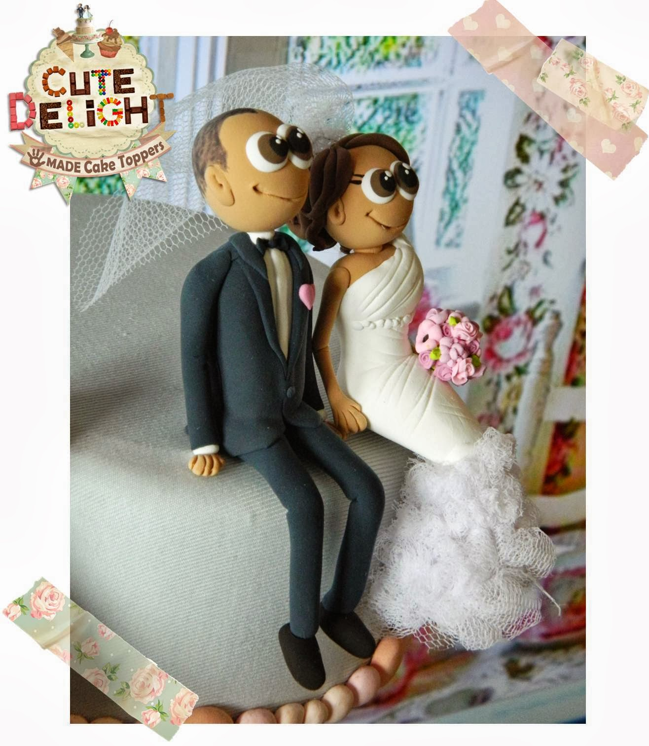 Wedding cake toppers Custom Cake Topper Funny cake