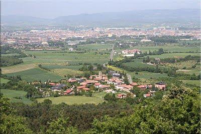 Berroztegieta y Gasteiz durante el ascenso a San Kiliz