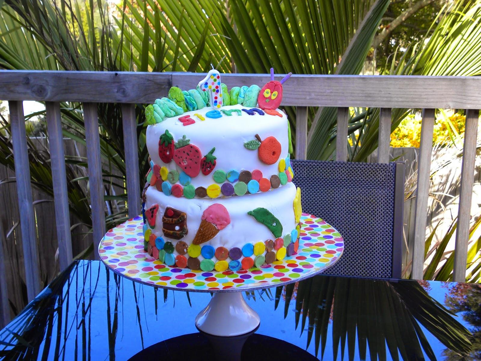Ammis Kitchen The Very Hungry Caterpillar Birthday Cake