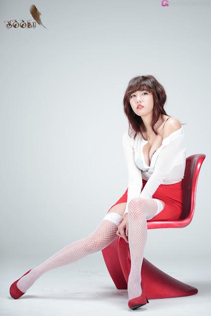 3 Sexy Red - Jung Yu Ri -Very cute asian girl - girlcute4u.blogspot.com