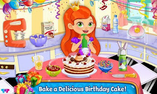 Screenshots of the Princess Birthday Party for Android tablet, phone.