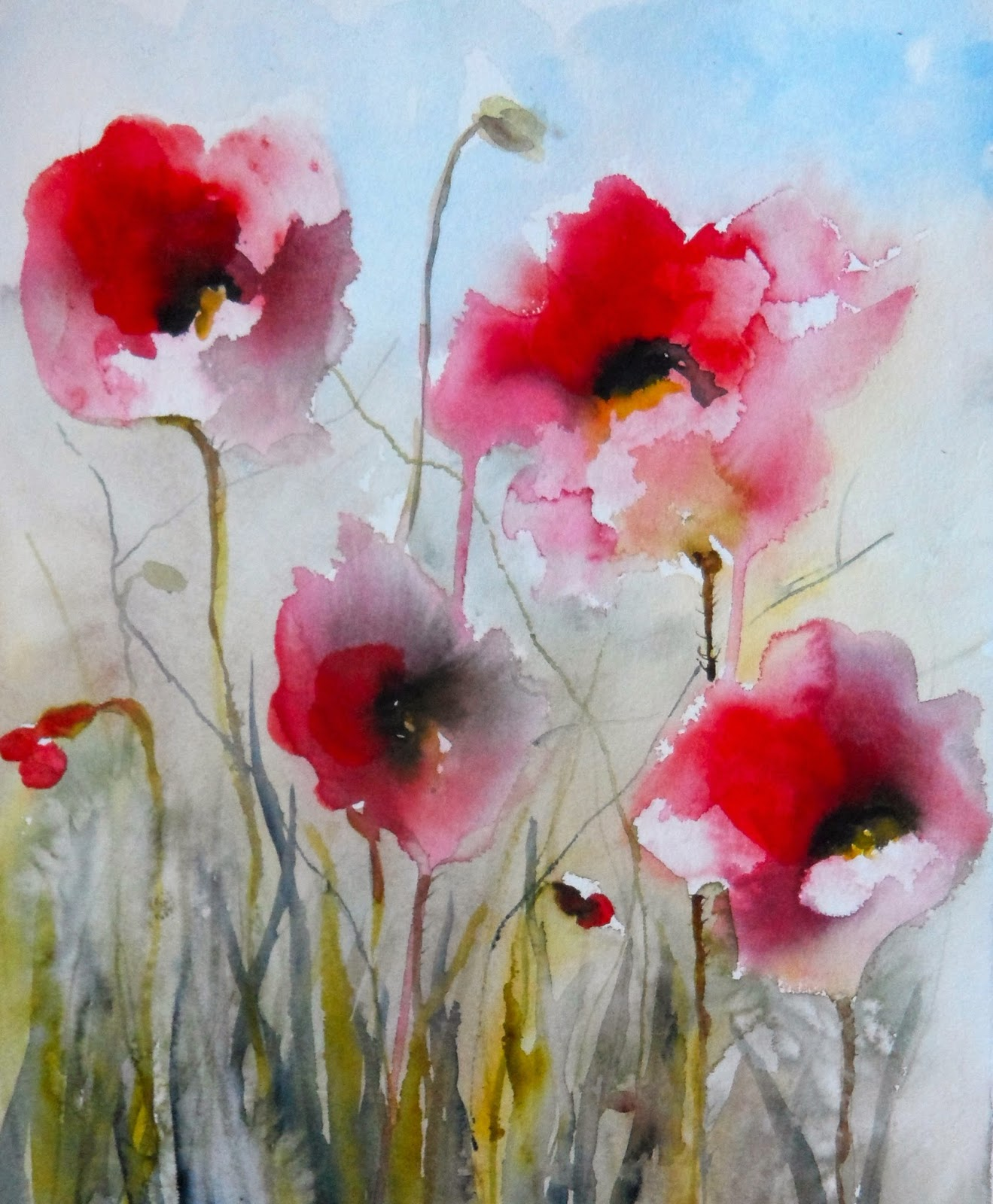 field poppies ii sold red poppies ix sold dreamy poppiesPoppies Watercolor Painting