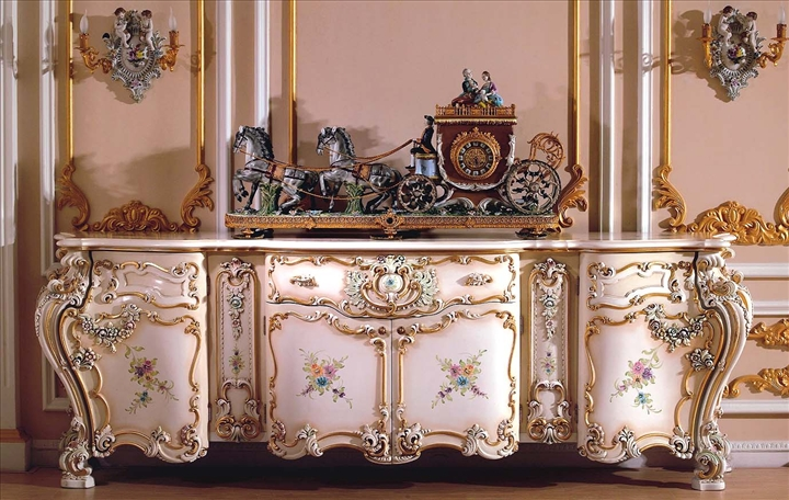 a genoese rococo painted and lacquered commode mid 18th