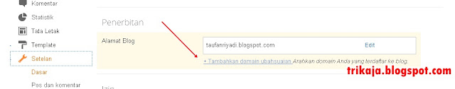Setting Custom Domain Blogspot