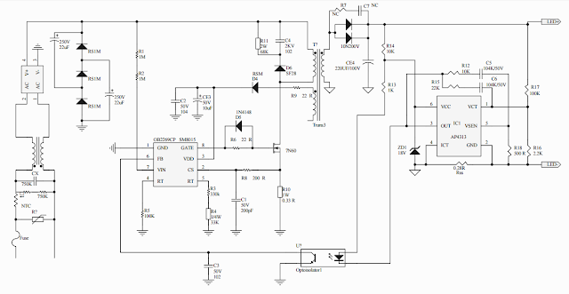 LED Driver schematics SM8015.