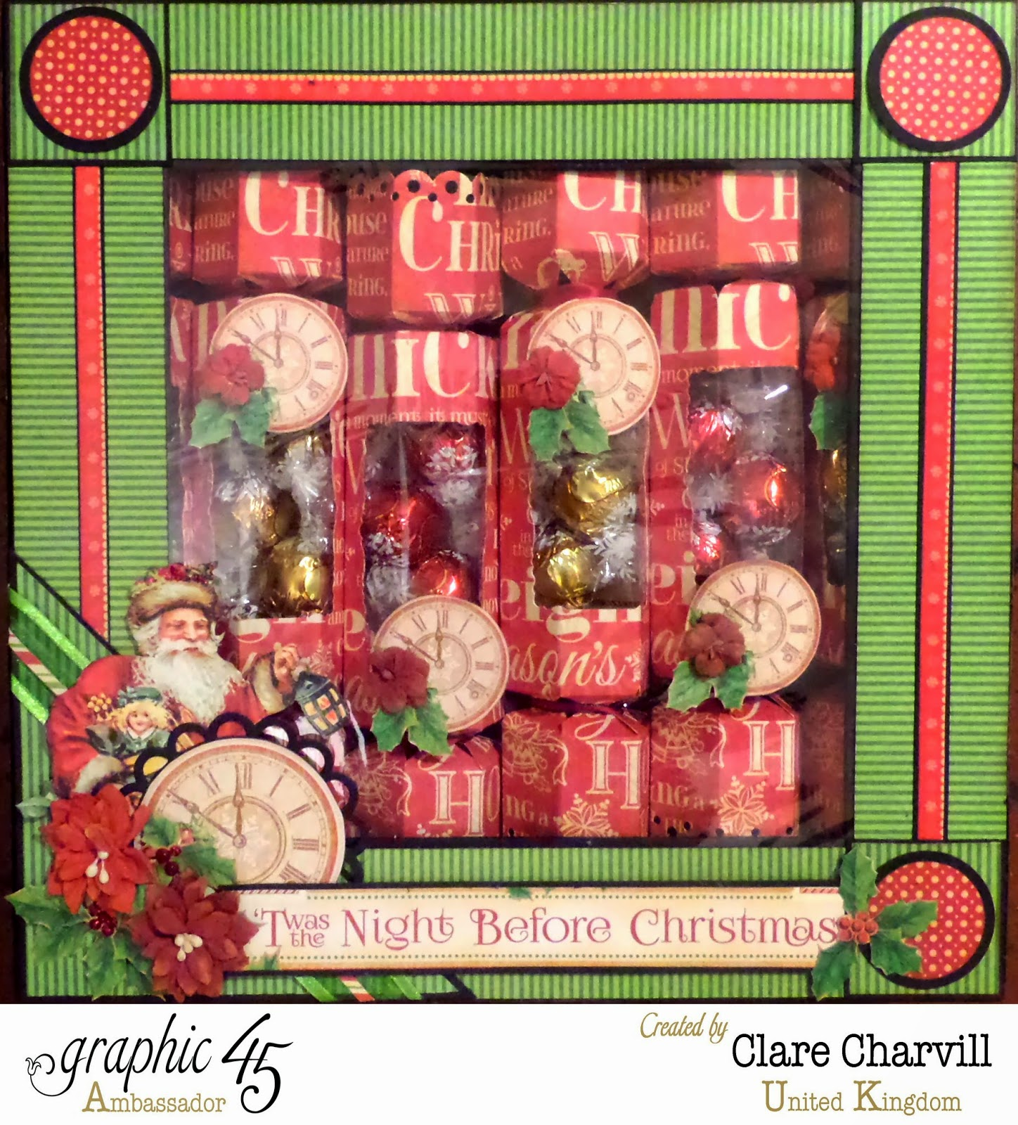 Twas the Night Before Christmas Box of Crackers 1 Clare Charvill Graphic 45 Ambassador