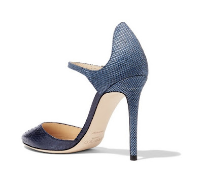 Jimmy Choo 'Marni' Elaphe and Rafia Pumps