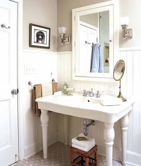 Baño Totalmente Blanco:La luz Los espacios deben estar correctamente iluminados