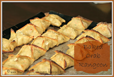 baked crab rangoon, recipe, chinese