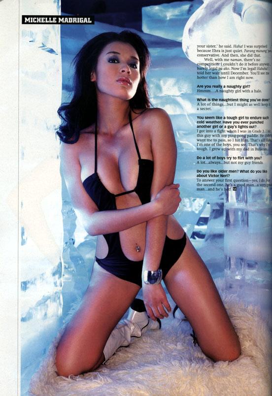 michelle madrigal sexy magazine bikini photo 04