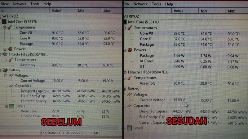 perbedaan temperatur