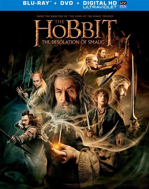 The Hobbit: The Desolation of Smaug blu-ray cover