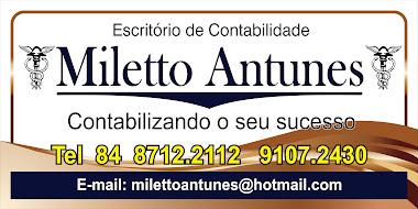 Escritório de Contabilidade           Miletto Antunes            `` Contabilizando o seu sucesso ``
