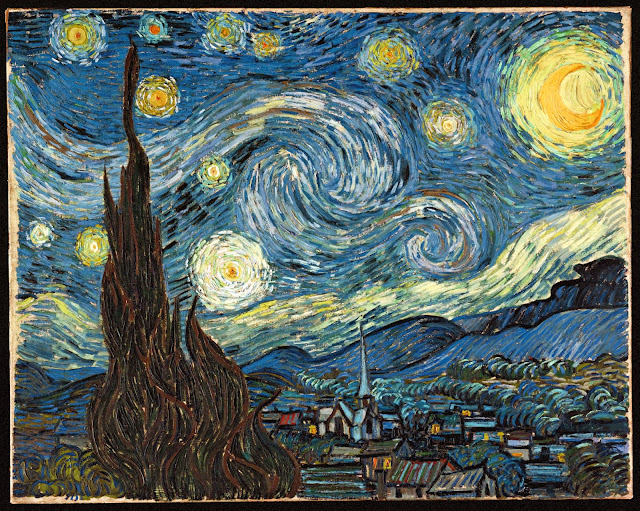 "Picture of ""The Starry Night"" by Vincent van Gogh, 1889"