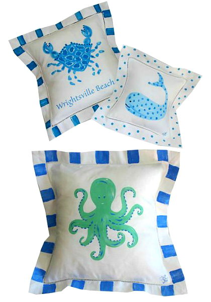 Coastal Art Pillows
