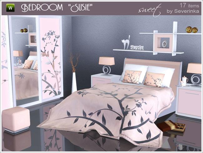 My sims 3 blog susie bedroom set by severinka for 3 bedroom set