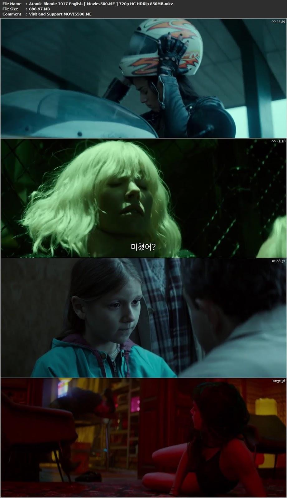 Atomic Blonde 2017 English Full Movie HDRip 720p