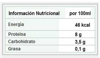 información nutricional queso batido 0% hacendado