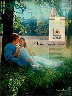 propaganda cigarros Luiz XV - 1979. propaganda anos 70; história decada de 70; reclame anos 70; propaganda cigarros anos 70; Brazil in the 70s; Oswaldo Hernandez;