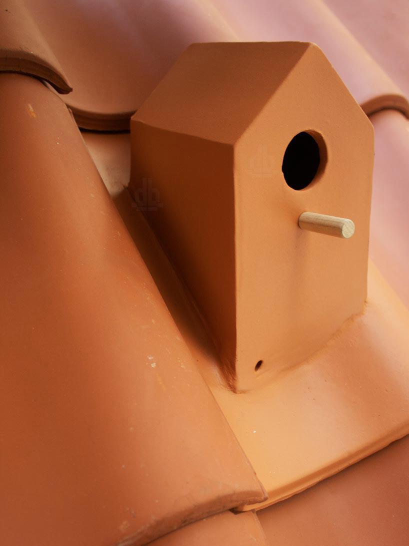 Telha com casinha de passarinho