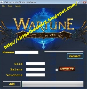 Wartune Hack Cheats Tool Gold, Balens, Vouchers