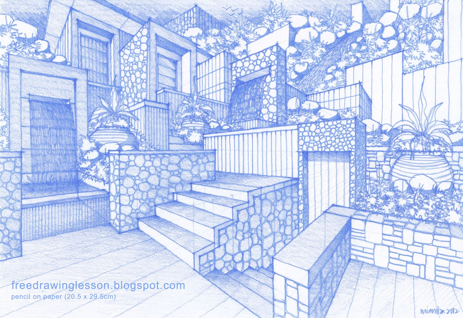 Sketch Draw How To Draw A Garden