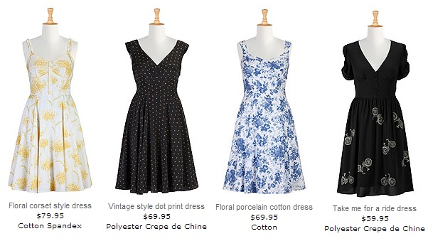 Gorgeous vintage inspired dresses from eShakti.com