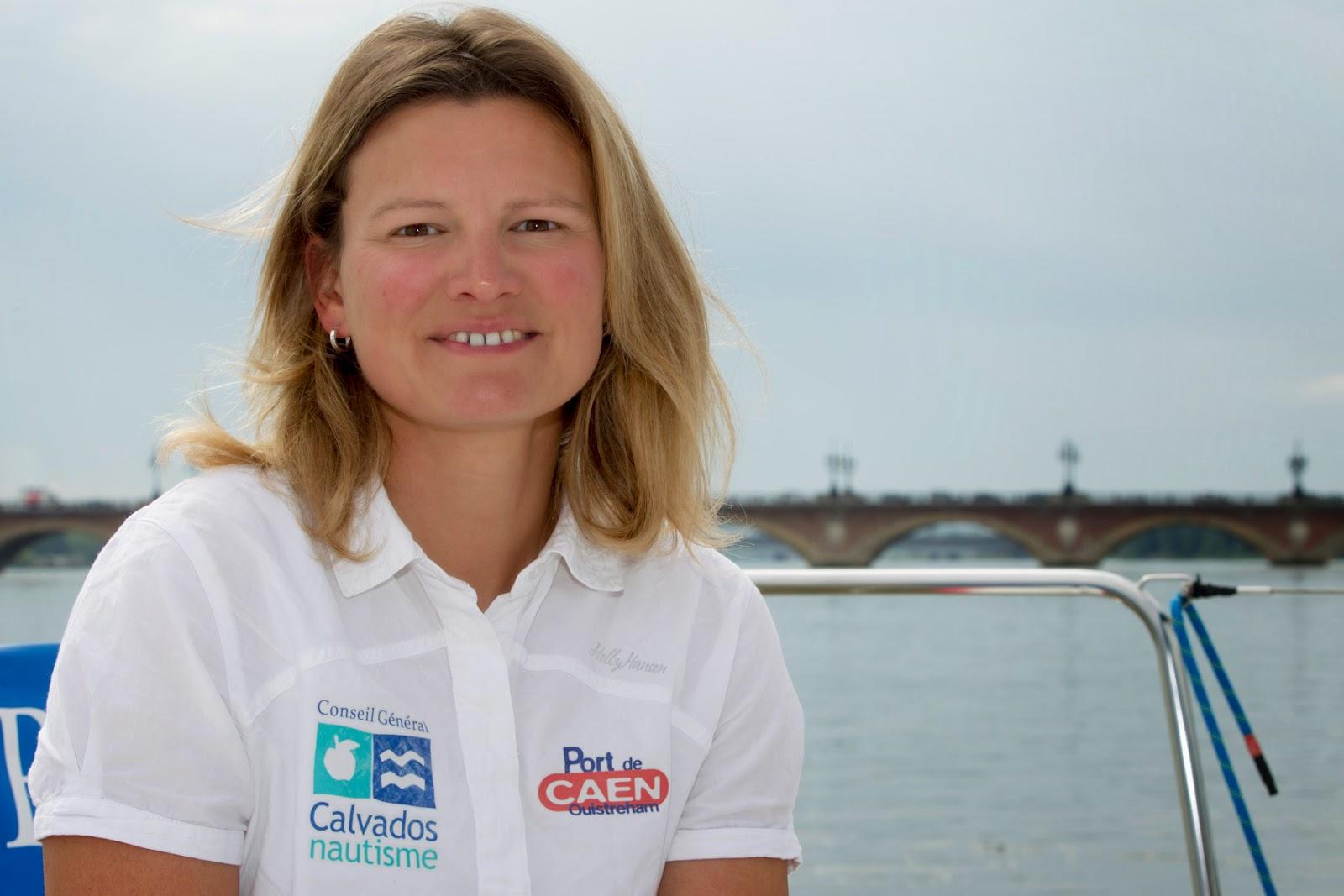 Claire Pruvot retrouve la compétition en Figaro après un AVC l'an dernier.