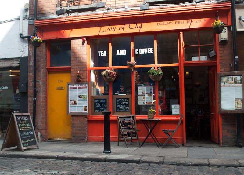 Joy of Cha Café along temple bar in dublin ireland