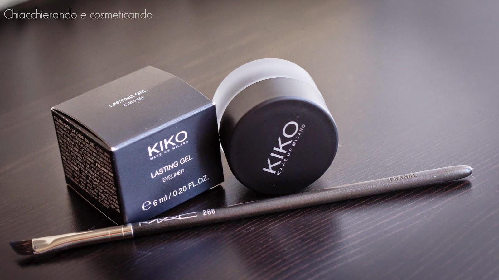 Prime impressioni: eyeliner Lasting gel Kiko + Trucco