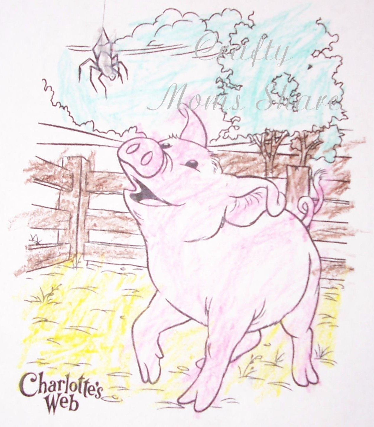 Printable Charlotte S Web Book Cover : Free coloring pages of charlottes web characters