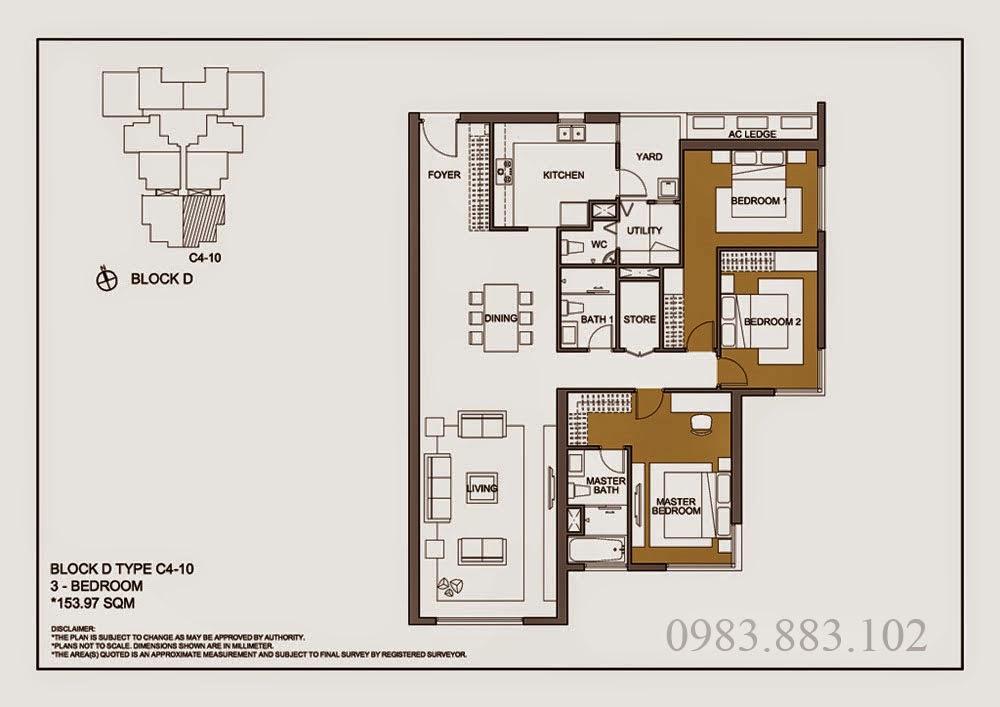 Thiết kế căn C4-10 Chung cư Mulberry Lane