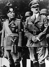 BENITO MUSSOLINI (29/07/1883–28/04/1945) Y ADOLF HITLER (20/04/1889-30/04/1945).